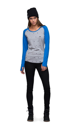 Raglan LS - Bay Blue / Grey Lifts