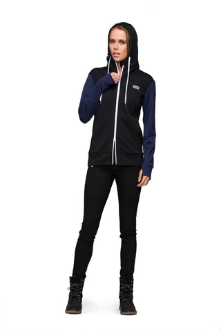 Mid Hit Hoody Contrast - Black / Navy
