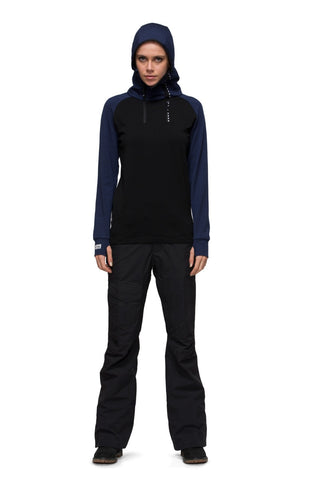 1/4 Zip Tech Hoody - Black / Navy