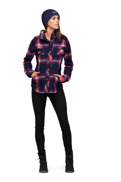 Mountain Shirt - Navy / Red Check