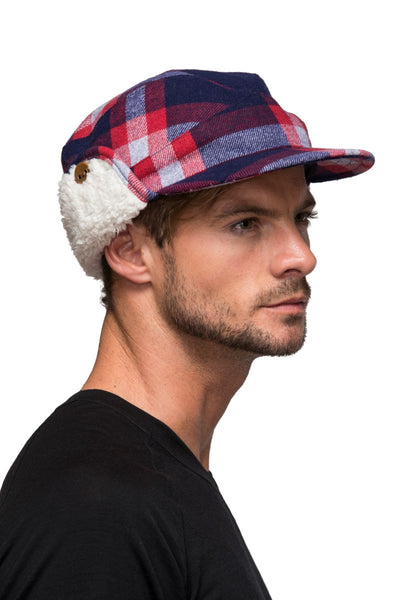 Mountain Hat - Navy / Red Check