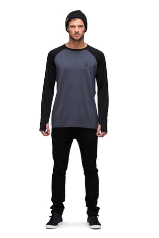 Raglan LS - Black / Charcoal