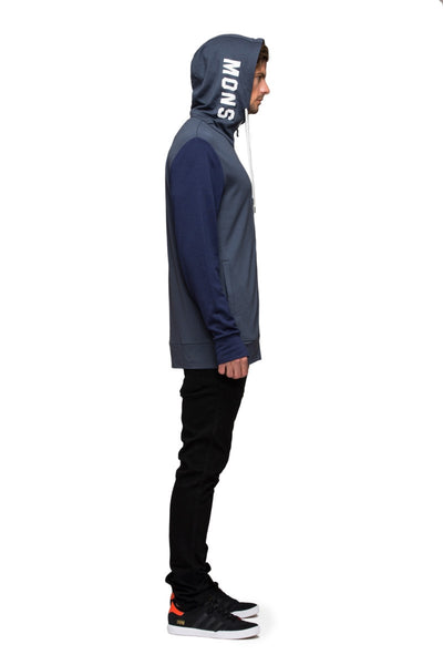 Mid Hit Hoody - Charcoal / Navy