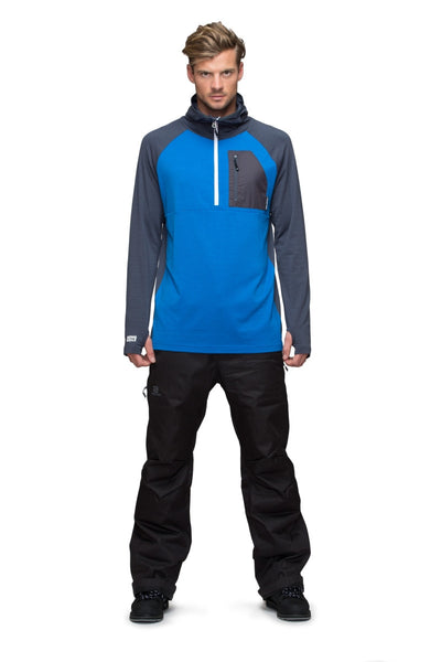 1/2 Zip Tech Hoody - Bay Blue / Charcoal