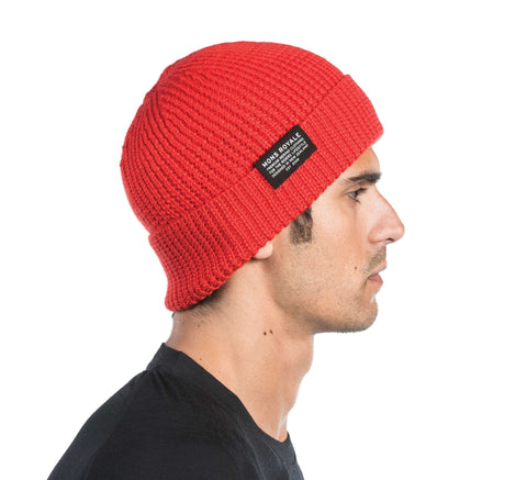 2 Way Fishermans Beanie - Flame