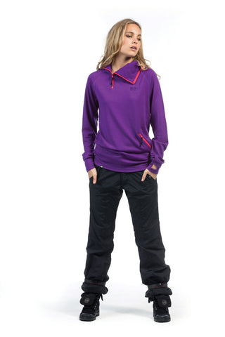 1/4 Zip Tech Hoody - Purple