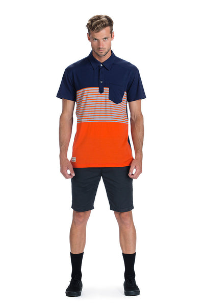 Not Your Dads Polo - Navy / Spice Stripe / Spice