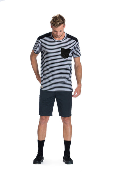 Pocket T - Blk Stripe / Black