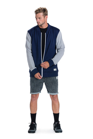 Bomber - Navy / Grey Marl