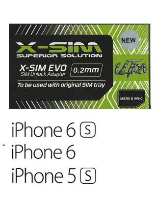 X-SIM EVO Ultra V4.4 - iPhone 4S/5/5C/5S/6/6S - iOS 10*