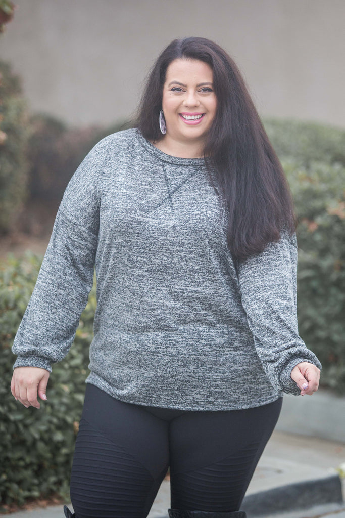 Hacci Jewel Pullover in Ash
