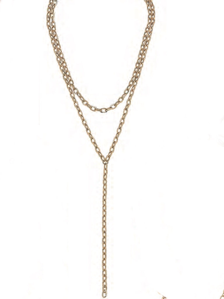 Pilar Necklace, Gold