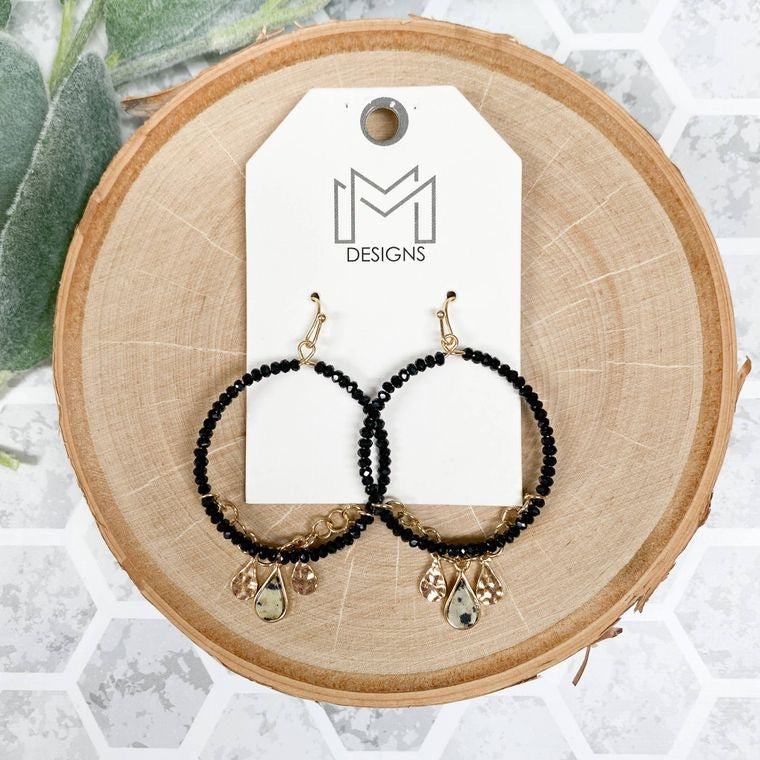 Hopper Earrings, Black