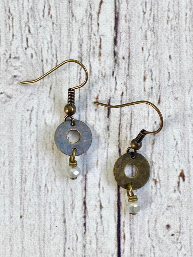 Simple Circle Earrings Blue Ridge Ice