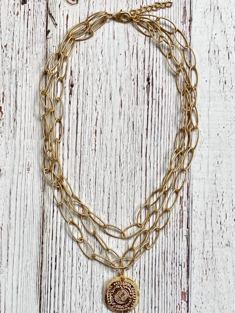 Delta Necklace, Gold