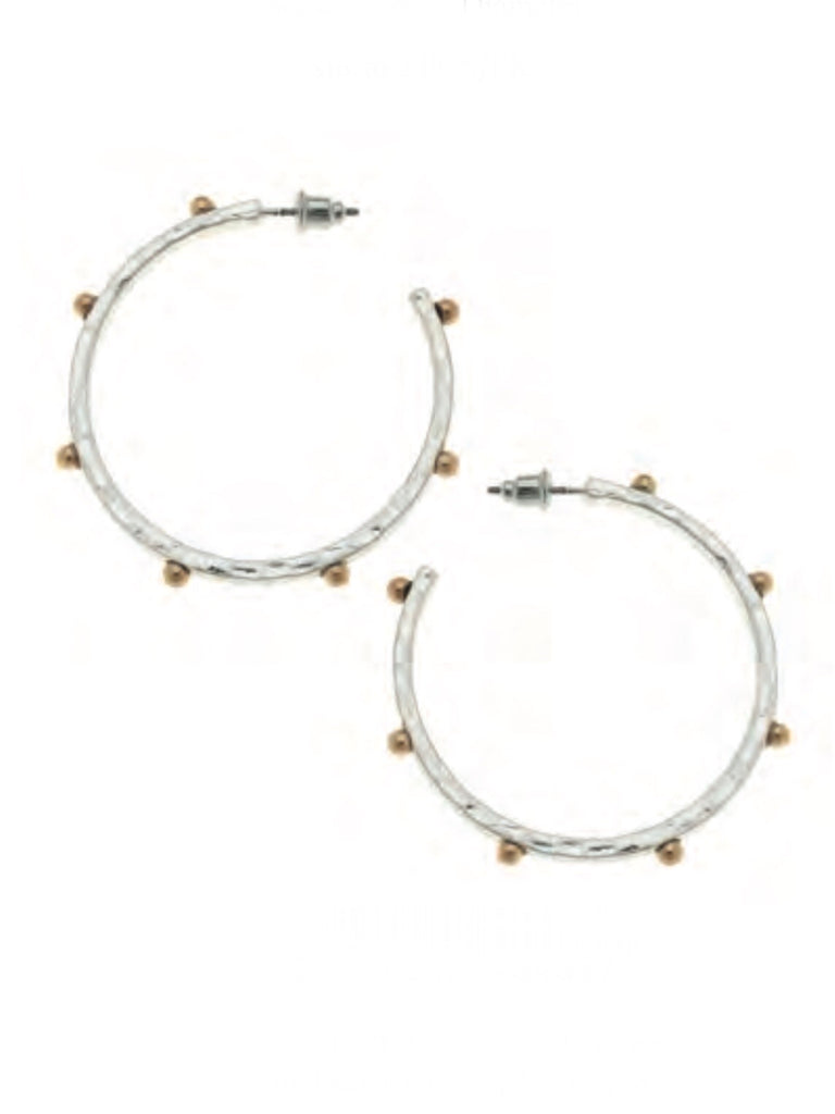 Josie Hoop Earrings, 2-tone