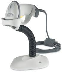 Zebra/Motorola Symbol Ls2208 Handheld Barcode Scanner, Includes Stand And Usb Cord (White)