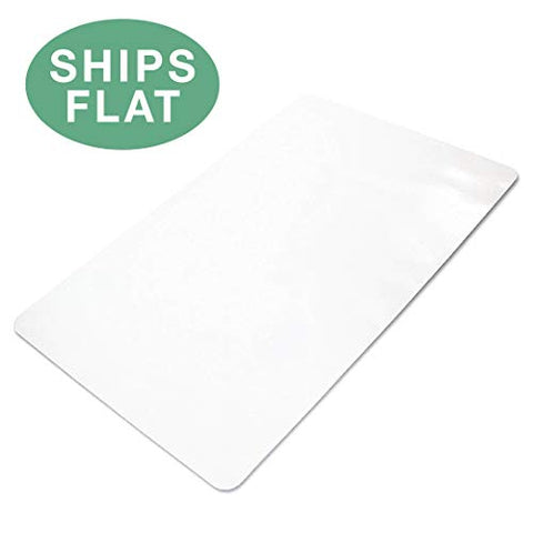 Office Chair Mat For Hard Floors 36 X 48 - Clear Hardwood Mat For Desk Chairs - Ships Flat