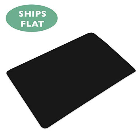 Office Chair Mat For Hard Floors 36 X 48 - Black Hardwood Mat For Desk Chairs - Ships Flat