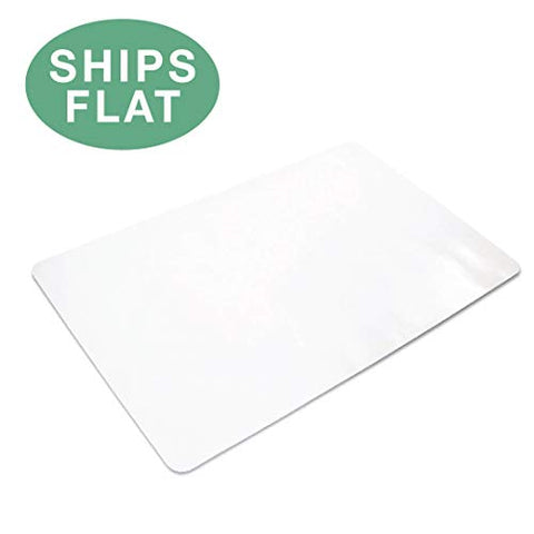Office Chair Mat For Hard Floors 30 X 48 - Clear Hardwood Mat For Desk Chairs - Ships Flat
