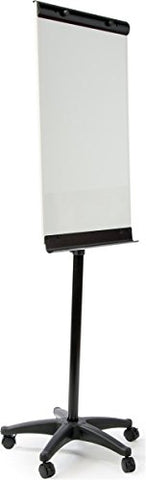 Displays2Go Portable Mobile Dry Erase Easel, Magnetic, Rolling And Locking Wheels, 24 X 36 Inches, White Board (Wb5W6090B)