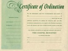 Certificate-Ordination-Minister