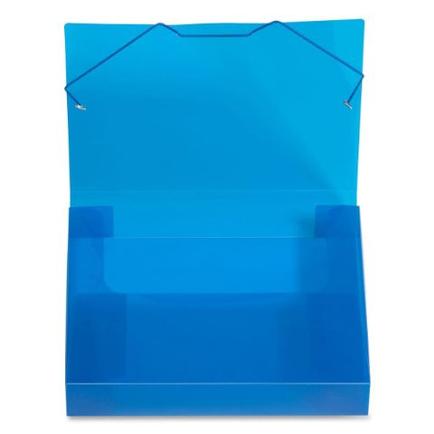 Lion File-N-Tote Plastic Document File, 13 X 9-7/8 Inches, 2 Inches Capacity, Translucent Blue, 1 File (45200-Bl)