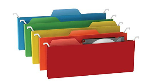 Find-It Tab View Mini Hanging File Folders, Assorted Colors, (Ft07184)