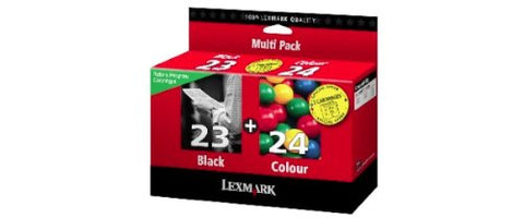 Lexmark (#23/#24) 18C1571 Black And Color Ink Cartridge Combo Pack