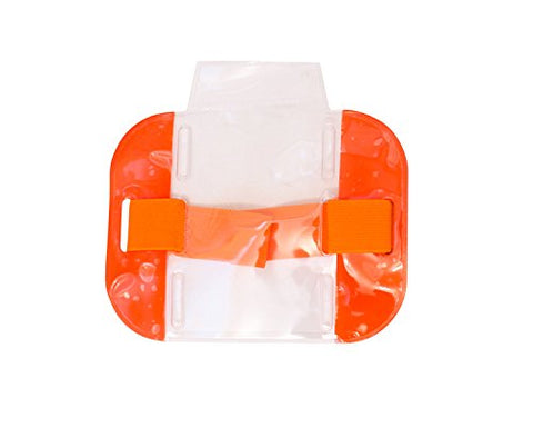 Pac Supplies Security Armband/Skipass/Badge Holder/Security Guard Id Pass (Hi Viz Orange)
