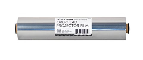 School Smart Overhead Projector Film Roll, 10-1/4 Inches X 50 Feet, 4 Mil Thick