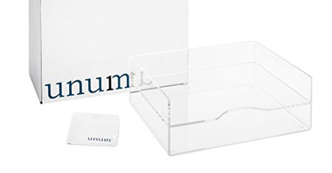Unum Clear Acrylic Desktop Letter Tray, 2-Tier; Desk Organizer Double Tray For Paper, Files, Folders