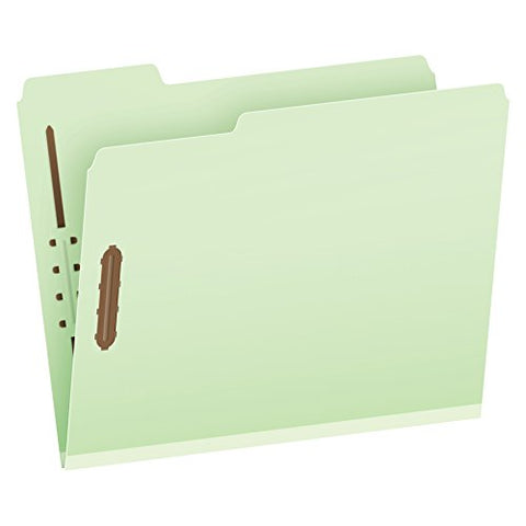 Pendaflex Recycled Pressboard Fastener Folders, Letter Size, Light Green, 3  Expansion, 1/3 Cut, 25/Bx (24944R)