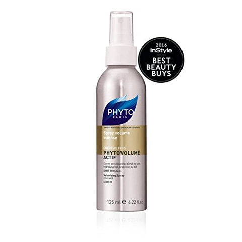 Phytovolume Actif Botanical Volumizing Spray | Paraben Free &Amp; Sulfate Free | Heat - Activated, Blow Drying, Weightless | For Fine Hair | Voluminous Hair, Plumps Hair | Keratin