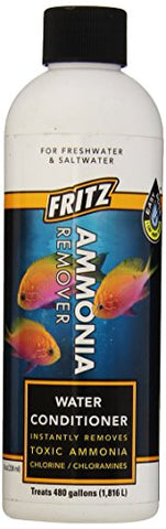 Fritz Aquatics 80238 Fritz Accr Water Conditioner And Ammonia Remover For Fresh And Salt Water Aquariums, 8-Ounce