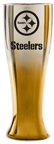 Nfl Pittsburgh Steelers 16Oz Glass Glacier Pilsner With Two-Color Finish