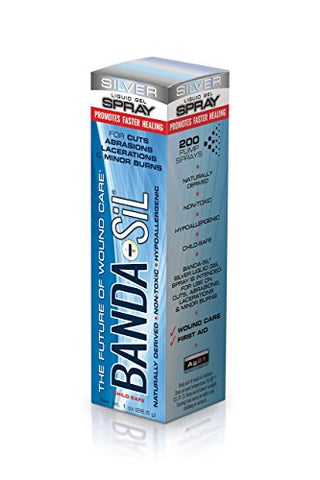 Banda-Sil Liquid Gel Spray, Silver, 1 Oz