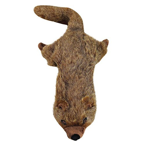 Grriggles Unstuffies Mongoose Life-Like Unstuffed No Stuffing Plush Wild Animal Dog Toy 20