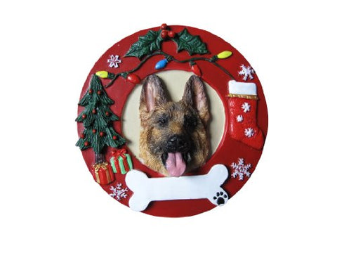 E&Amp;S Pets German Shepherd Personalized Christmas Ornament