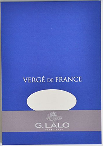Verge De France By G. Lalo Writing Tablet, 50 Sheets Of 100G White Paper, 5.75 By 8.25 Inches