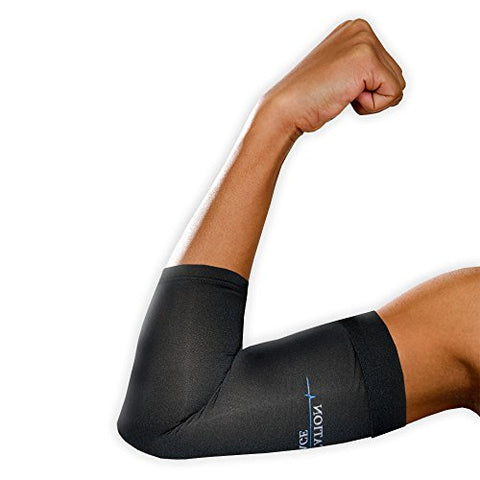 Rehabilitation Advantage Copper Infused Elbow Compression Single Sleeve, Large