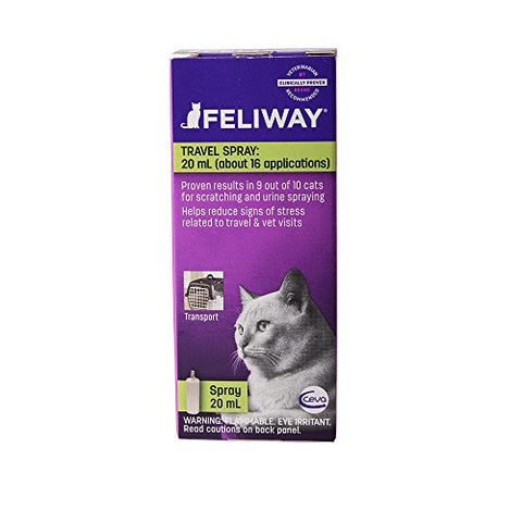 Ceva Feliway Pheromone Travel Spray, 20Ml