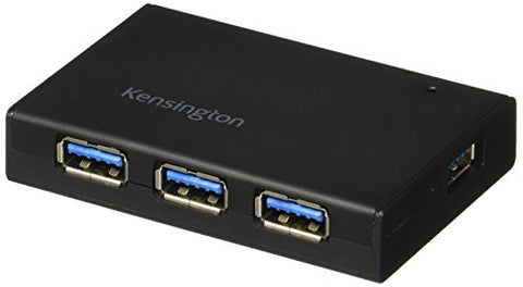 Kensington Uh4000C 4 Port Powered Usb Hub 3.0 With 15W/3Amp Power Adapter (K33979Am)