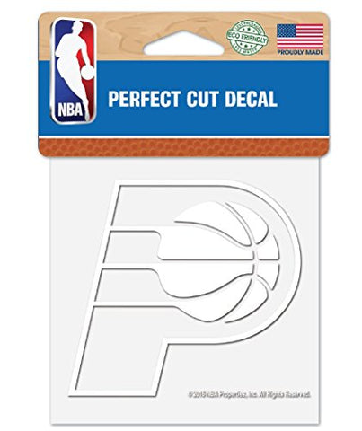 Wincraft Nba Indiana Pacers 4 X4  Inch White Decal Sticker