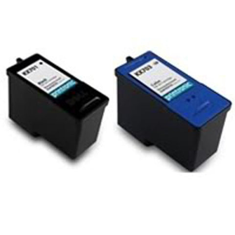 Amsahr Kx701/Jp451 Remanufactured Replacement Dell Ink Cartridges For Printers/Faxes With 1 Black And 1 Color Cartridges Ink