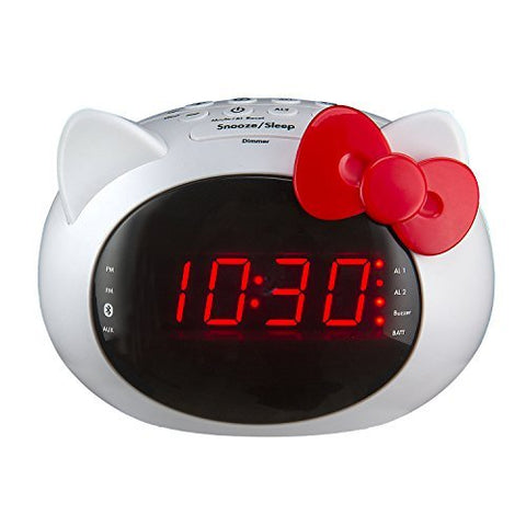 Ihome Hello Kitty Bluetooth Dual Alarm Clock Radio Speaker (Si-B62.Fx)