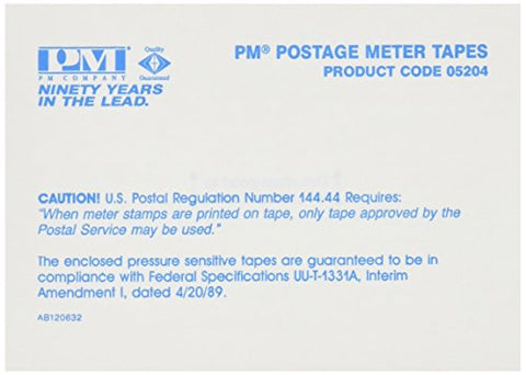 Pm Company 05204 Postage Meter Double Tape Sheets, 4 X 5-1/2