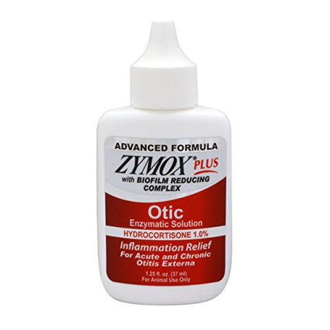 Zymox Otic Plus Ear Solution | The Only No Pre-Clean Once -A-Day Dog And Cat Ear Solution | Natural Enzyme Formula | Veterinarian Recommended | Patented Enzyme Formula | Contains Hydrocortisone For Comfort