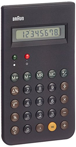 Braun Bne001Bk (Reissue Of The Braun Et66 Calculator), Black