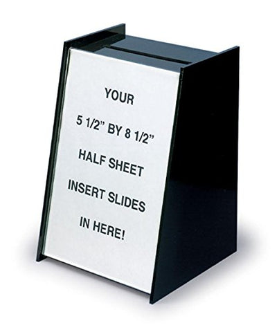 Displays2Go Small Ballot &Amp; Suggestion Box With Sign Holder For Countertop, Black Acrylic (Rbhs)